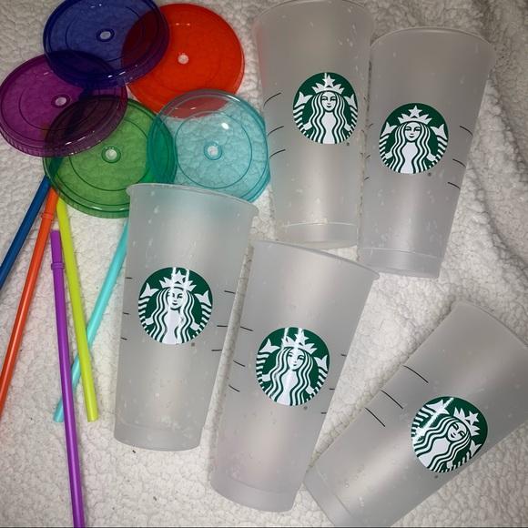 Starbucks Summer 2021 confetti Cold Cup Set